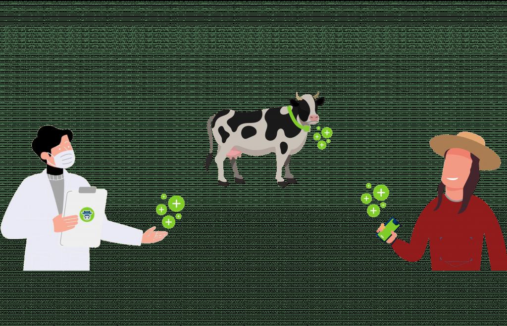 التكنولوجيا الزراعية ، أبقار الألبان ، مزارع ، طبيب بيطري
