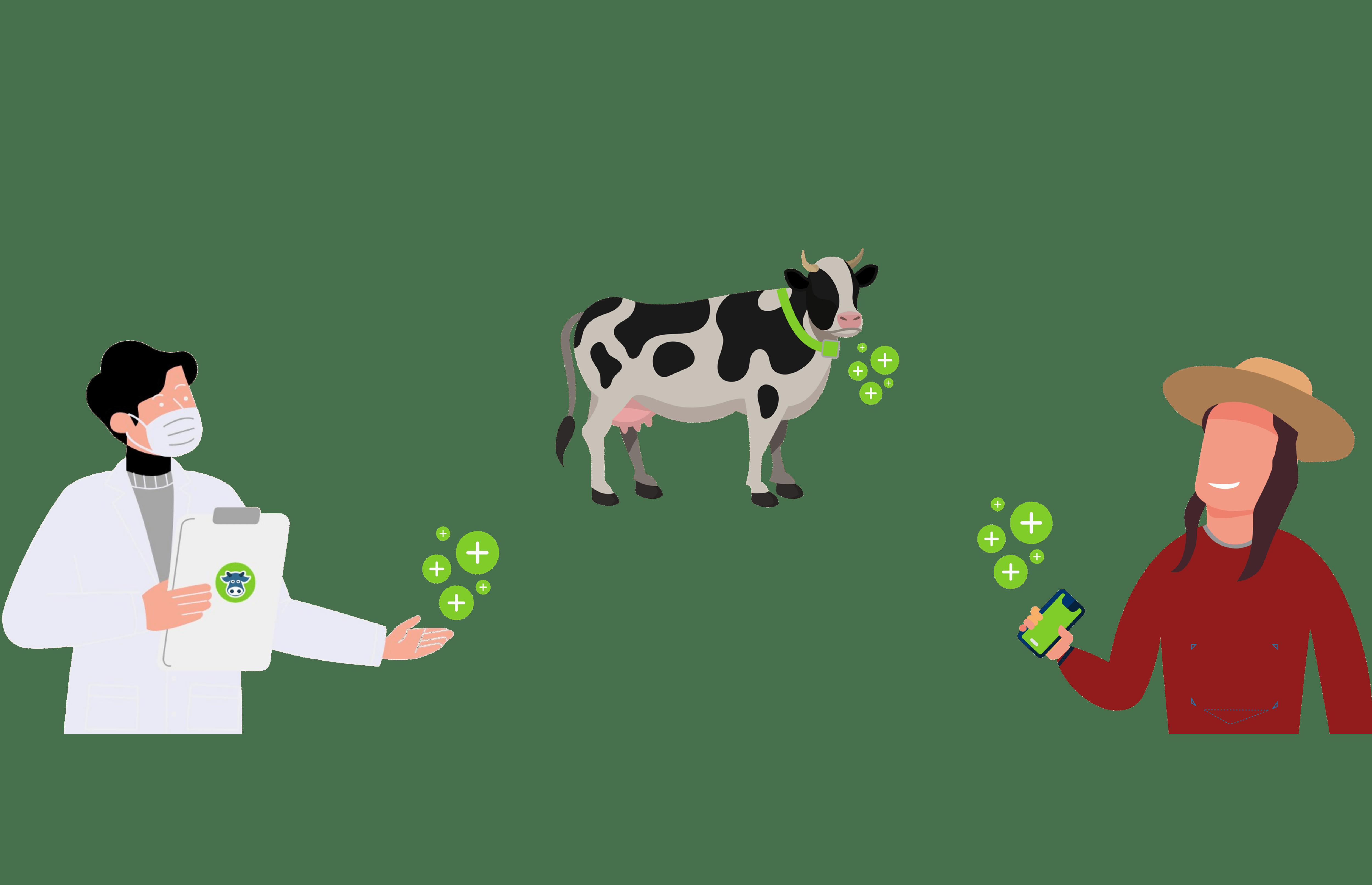 agritech dairy cows farmer veterinarian